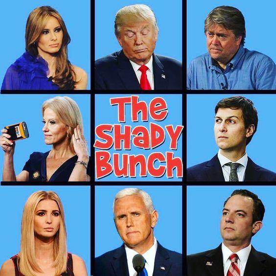 35 Funny Pics ~ Brady Bunch Donald Trump Cabinet parody, Shady Bunch
