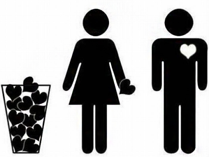 35 Funny Pics ~ funny valentines stick figure hearts trash illustration
