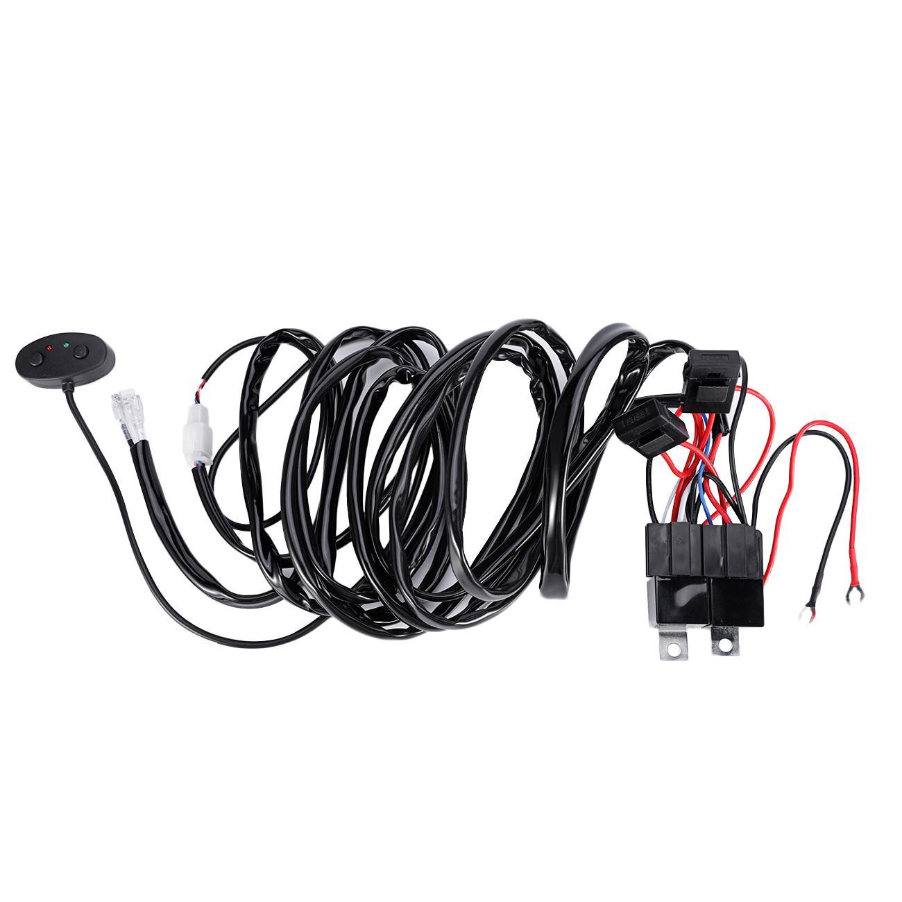 Remote Control Wiring Harness Strobe Switch Relay Led Fog