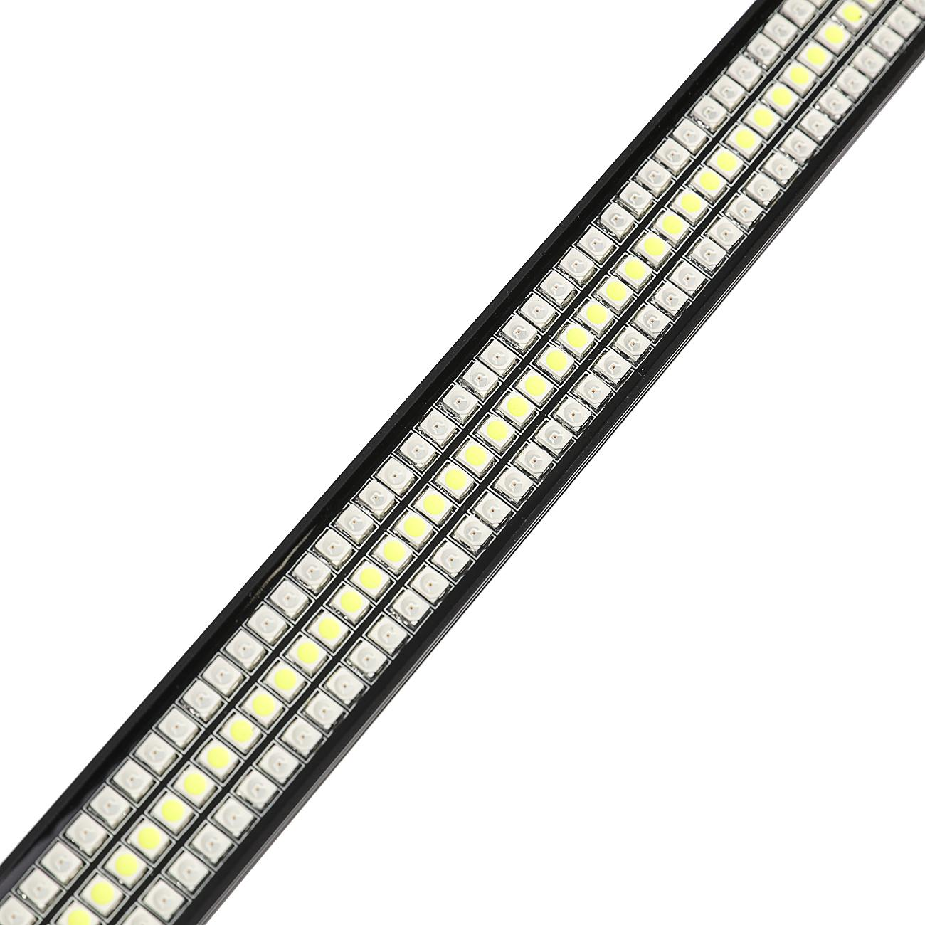 60 Triple Led Tailgate Bar Sequential Turn Signal Amber