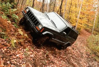 off road driving jeep baja racing left foot braking