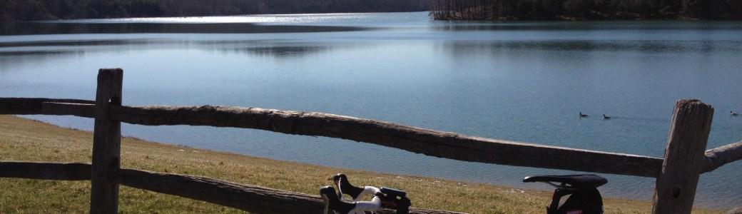 Bike by a lake