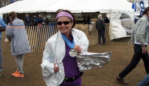 Rosanne Huber after her marathon