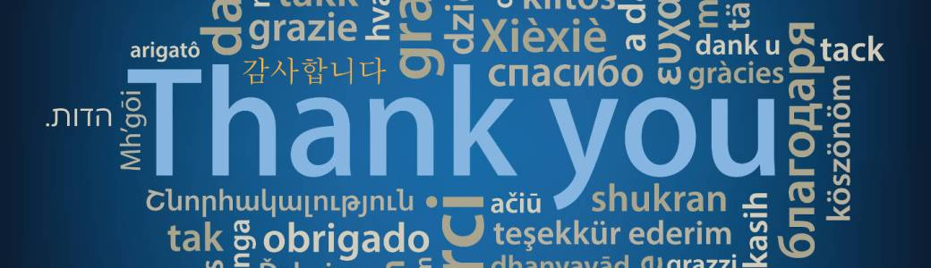 Thank you tag cloud in many languages