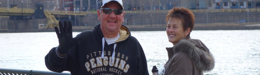 Dan and Beth smiling at the PHenomenal Hope 5K in Pittsburgh 2015