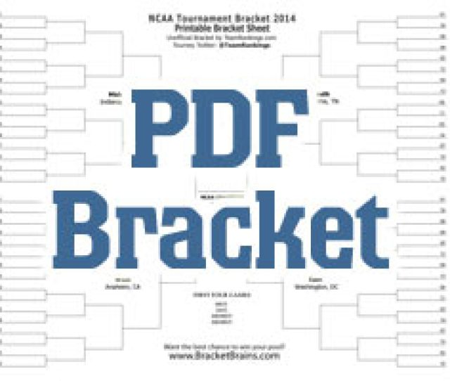 Ncaa Printable Bracket For March Madness