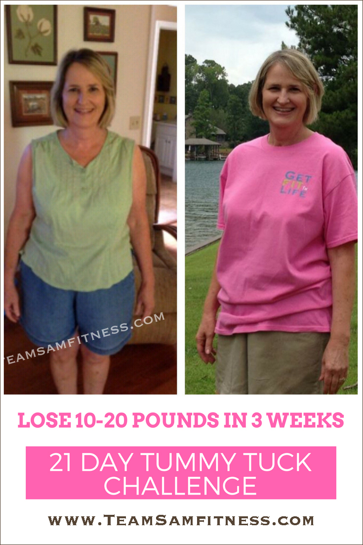Lose 10-20 pounds in 3 weeks ~ Tummy Tuck Challenge ~ TeamSam Fitness