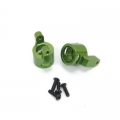 CNC Machined Precision Alum. C-Hubs for Axial Wraith (1 pair) Green