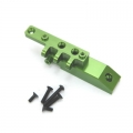 CNC Machined HD Alum. Front Servo Mount Block/Upper link mount, Axial Wraith (Green)
