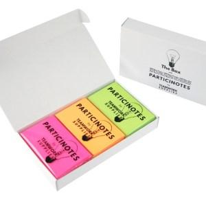 TheBox von Particinotes ist die mittlere Verpackungsgröße