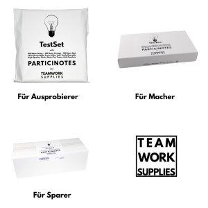 Die verschiedenen Set-Größen von Particinotes
