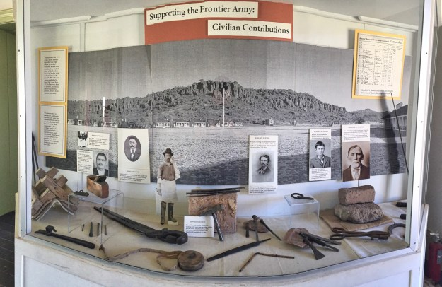 photo of exhibit case of Civilan contractors