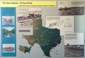 "Photo of placard entitled ""The San Antonio -- El Paso Road"""