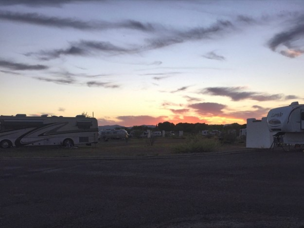 photo of sunset over Balmorhea campground