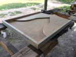 photo showing the table All glued up