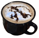 photo of Funny Pages Cafe Mocha Latte