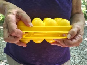 photo of opening the egg carrier