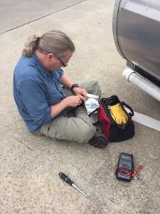 photo of Jim Repairing the antenna tube