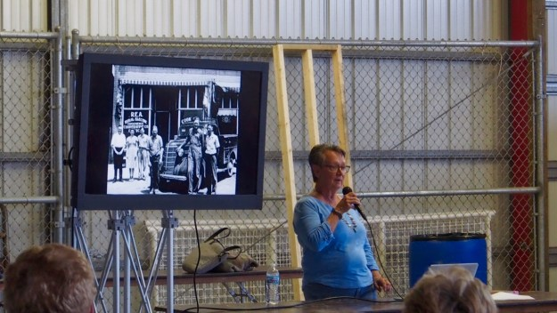 photo of The author speaking