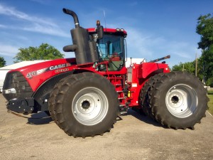 photo of the The 600+ horse Steiger tractor