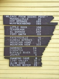 photo of Scenic Point milage sign