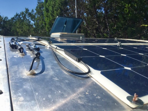 photo of solar panels on teardrop trailer