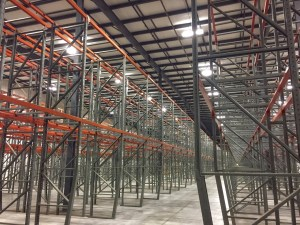 photo of Aisle after aisle of warehouse racking