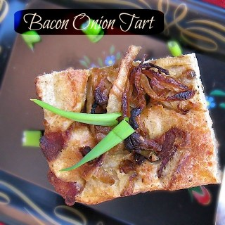 Bacon Onion Tart: Easiest elegant appetizer ever