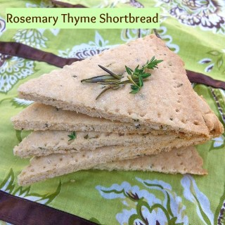 Rosemary Thyme Shortbread