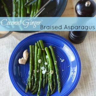 Coconut Ginger Braised Asparagus