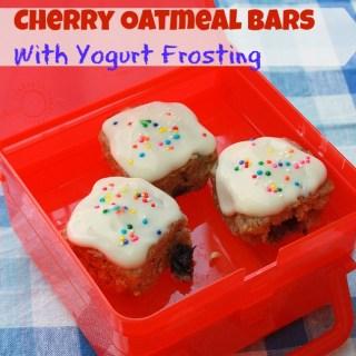 Cherry Oatmeal Bars with Yogurt Frosting | The Recipe ReDux