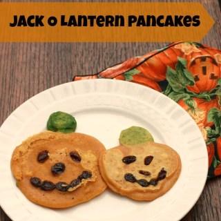 Jack O Lantern Pancakes
