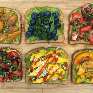 Mini Avocado Fruit Toasts | The Recipe ReDux