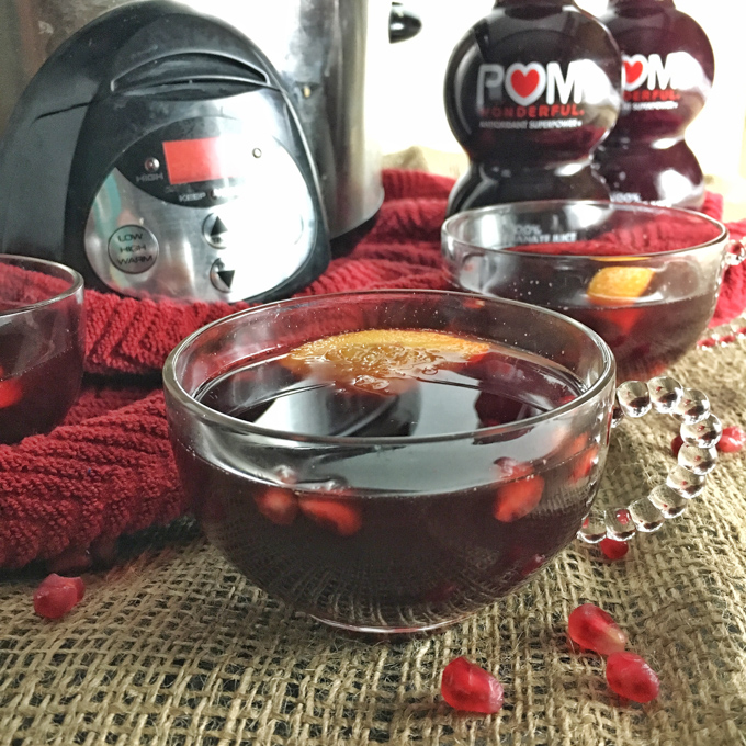 Add pomegranate juice to your hot apple cider for extra flavor and nutrients! Recipe at Teaspoonofspice.com