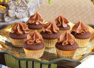 Chocolate-Caramel Mini Cupcakes