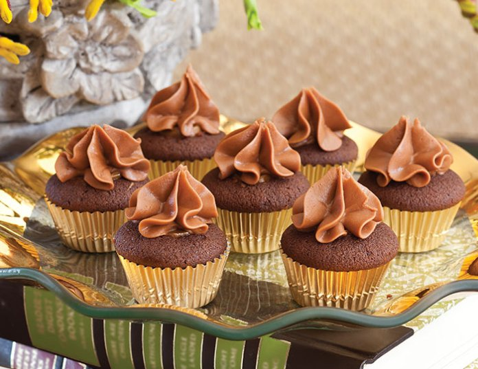 Chocolate-Caramel Mini Cupcakes