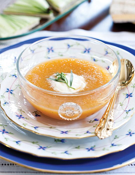 Tarragon-Cantaloupe Soup