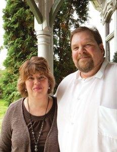 A Victorian mansion in Sumner, Washington is the home of Elizabeth Kleingartner and her husband Mark The Secret Garden tearoom.