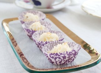 White Chocolate & Lavender Coconut Macaroons