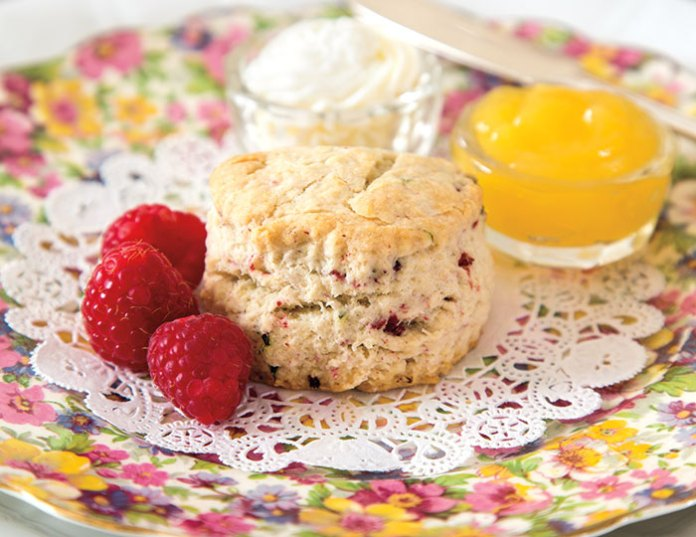 Raspberry-Mint Scones from Easter tea