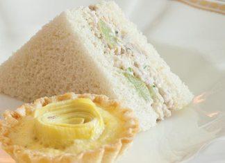 Green Grape–Chicken Salad Tea Sandwiches