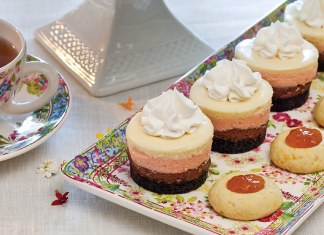 Neapolitan Cheesecakes