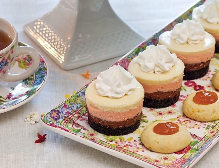 Neapolitan Cheesecakes