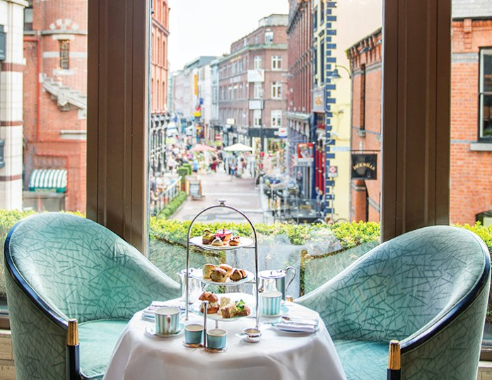 Afternoon tea in The Westbury's elegant lobby lounge, which looks out onto Dublin's Grafton Street, is an impressive event.