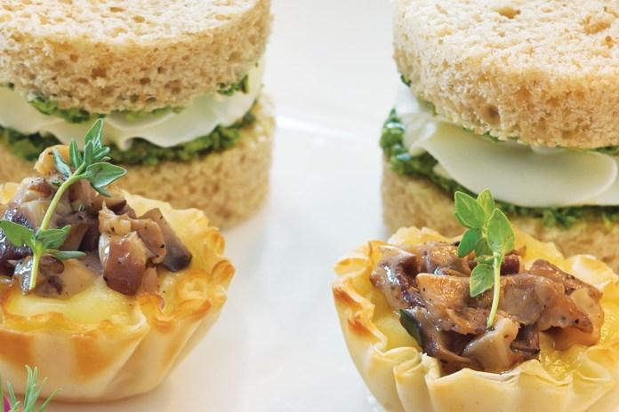Mushroom Brie Phyllo Cups