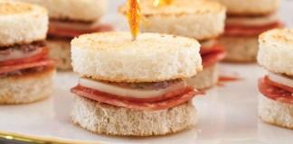 Pepperoni-Soppressata Tea Sandwiches