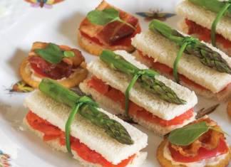 Salmon-Asparagus Tea Sandwiches