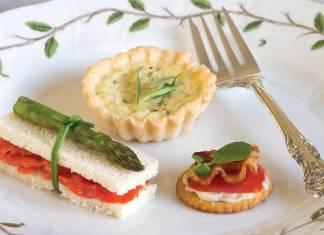 Tomato-Bacon-Watercress Canapes