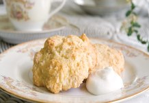 White Chocolate-Macadamia Drop Scones