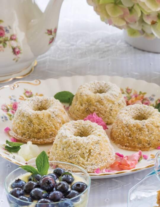 Lemon-Poppyseed Mini Bundt Cakes
